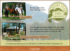 Dairy Flat Farm Holidays - website design and hosting by Broadnet on the Gold Coast