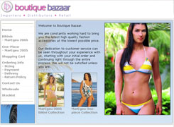 Boutique Bazaar - Broadnet gold coast based web design and web hosting