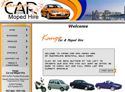 Kanga Car Hire - website designed and hosted by Broadnet